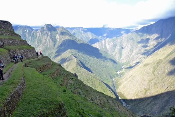 Inca trail ruine