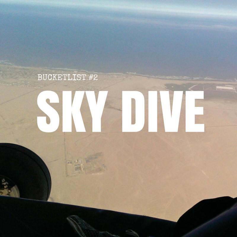 Blog sky dive bucketlist reizen