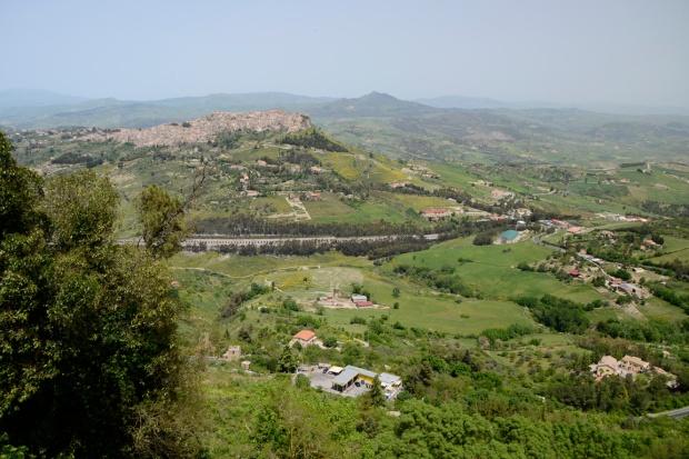 Enna uitzicht Sicilie