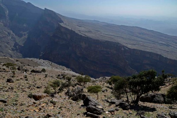Uitizcht canyon jebel shams oman harrar gebergte