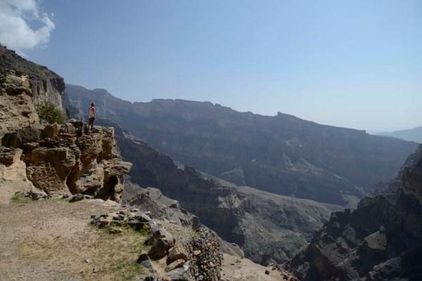 Hiken in de bergen van Oman