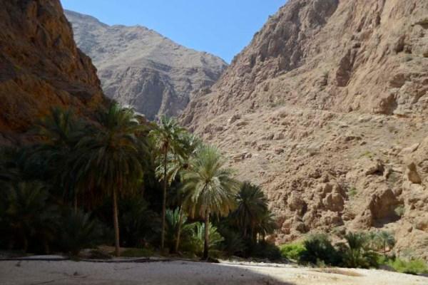 Wadi Shab Oman wandelen reizen