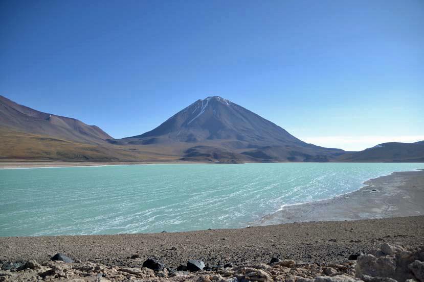 gekleurd meer bolivia