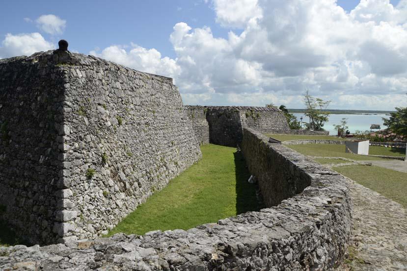 Ruine Bacalar MExico Yucatan