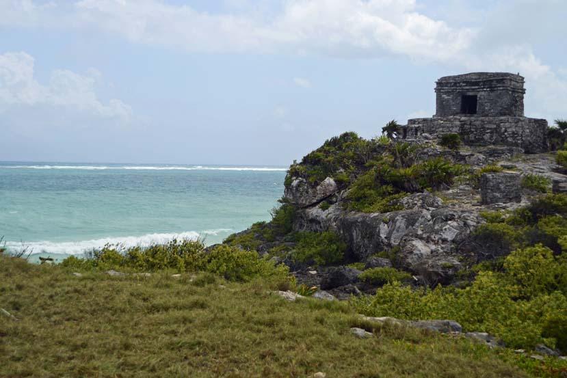 Ruines Tulum MExico aan het strand