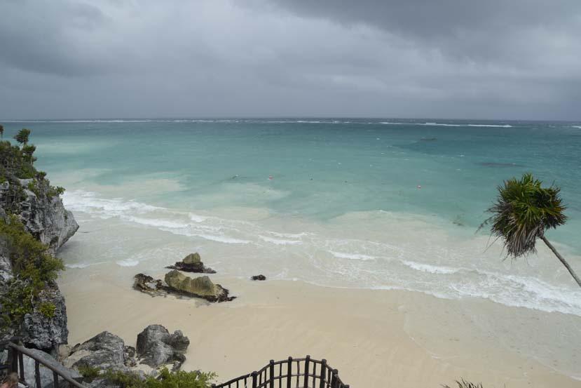 Mexico strand en ruine Tulum Yucatan