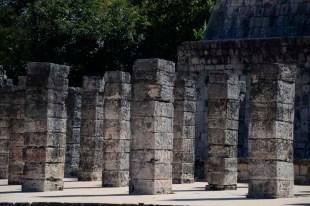 Pilaren chichen Itza Mexico