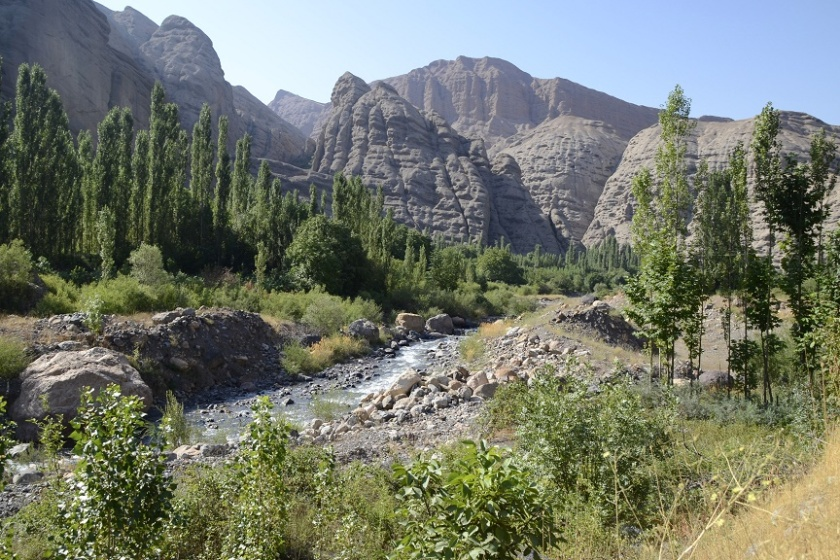 Alamut valley canyon Iran