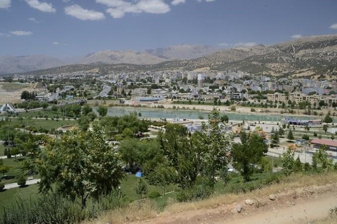 de stad Yasuj in Iran