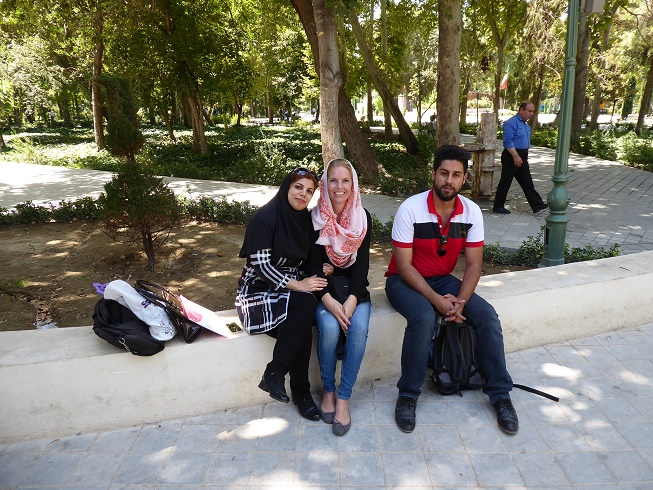 New friends in Iran Sharq Park