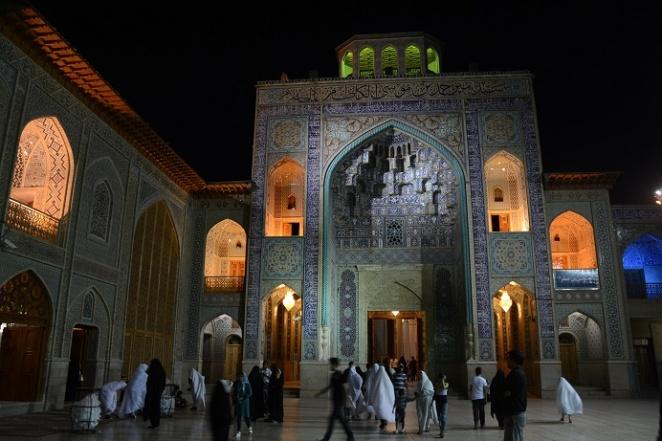 Shrine by night in Shiraz, Iran