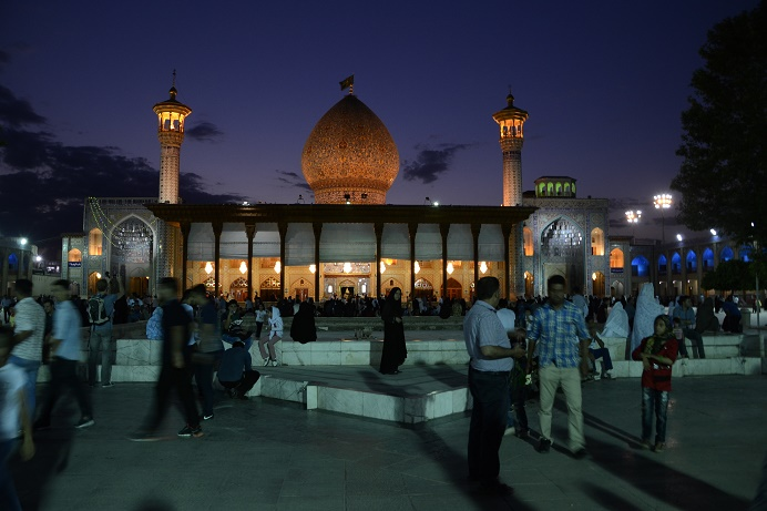 Shrine Shiraz by night Iran