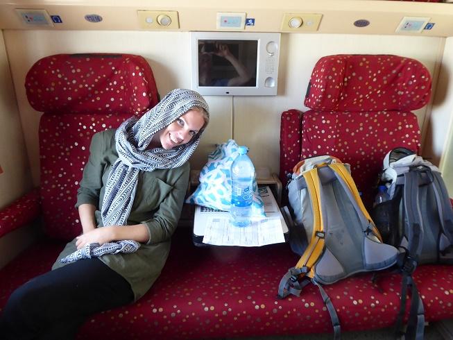 Nachttrein naar Mashhad in Iran