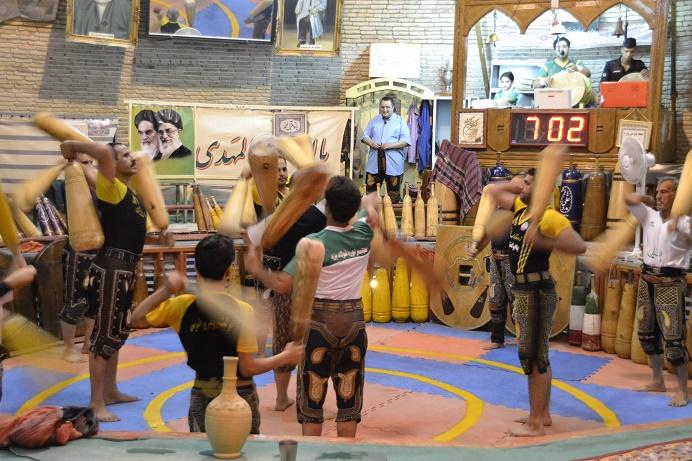 Zurkaneh trafitional sport in Iran travel blog